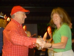 Steve and Bev dancing at the reunion