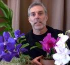 David and Purple Vanda with 8 feet of root