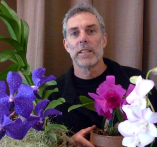 David and Purple Vanda with 8 feet of root