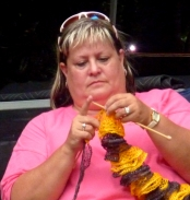 knitting to music