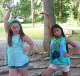 girls goofing