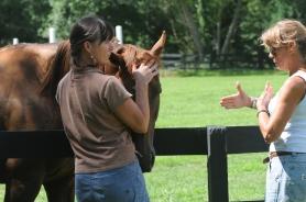 horsing around with Lydia