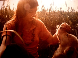 Lynn and Oda in the wheat field 1975
