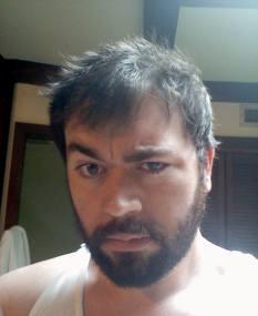 peter looking hairy