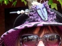 Hat girl in Asheville