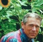 in his garden